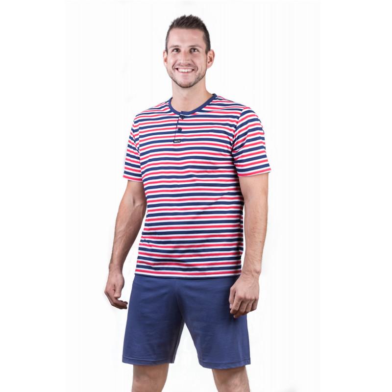 Pánské pyžamo krátké Lady Belty 17V-031324 - barva:BELMAR/námornícka, velikost:M