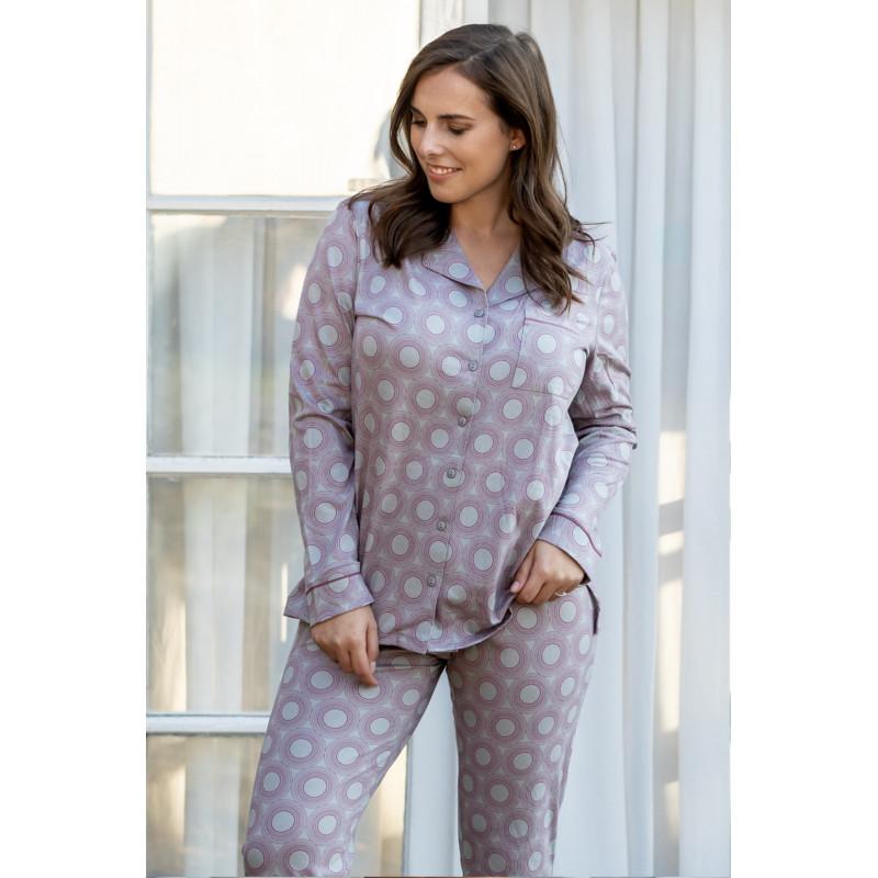 Dámske pyžamo Pleas 164514 - barva:PLE204/svetlo šedá, velikost:XL