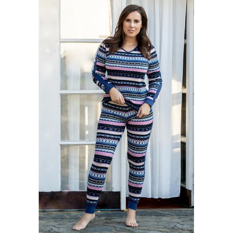 Dámske pyžamo Lady Belty 18I-0133-03 - barva:BEL03UNI/pruhy, velikost:XXL