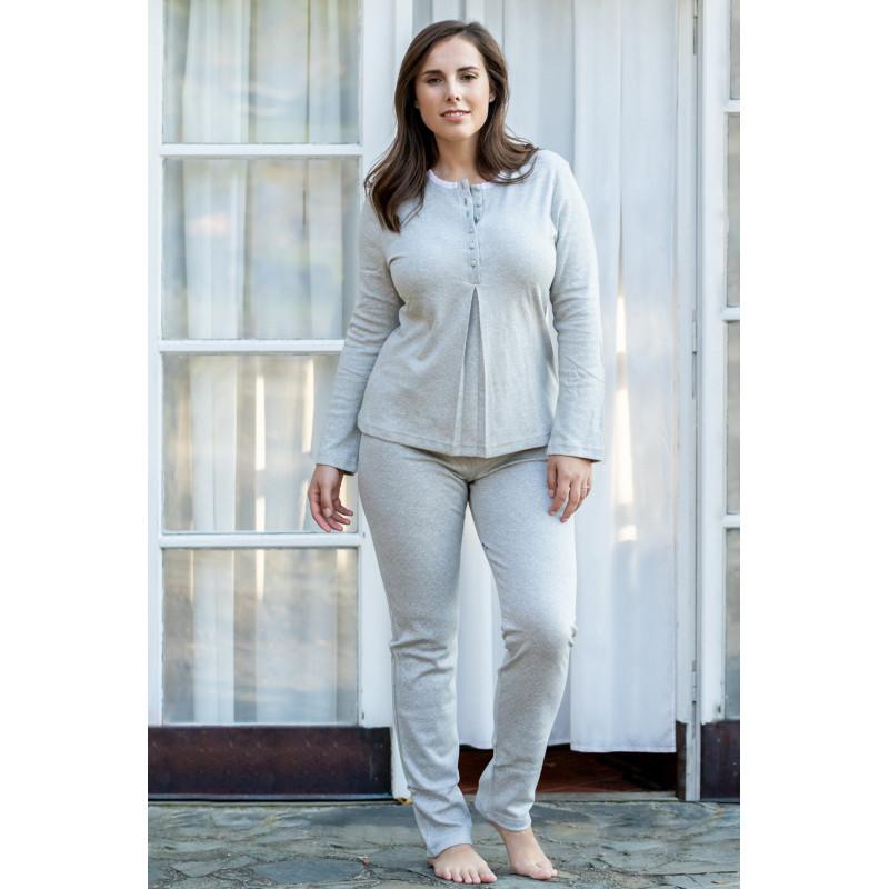 Dámske pyžamo Lady Belty 17I-0126-12 - barva:BELUNI/šedá, velikost:XL