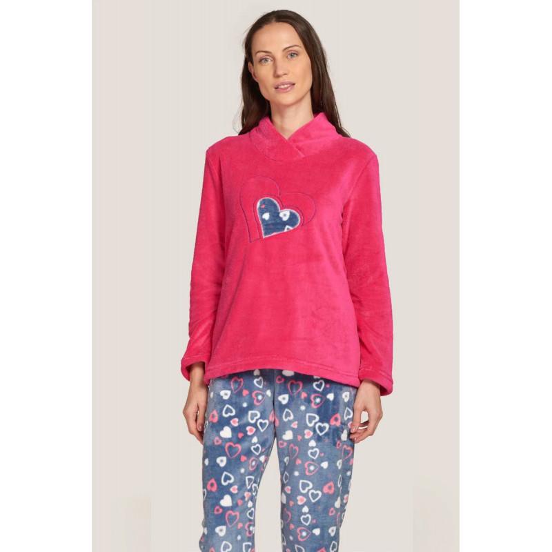Pyžamo Lady Belty 20I-1604C-12 - barva:BELUNICO/potisk, velikost:XL