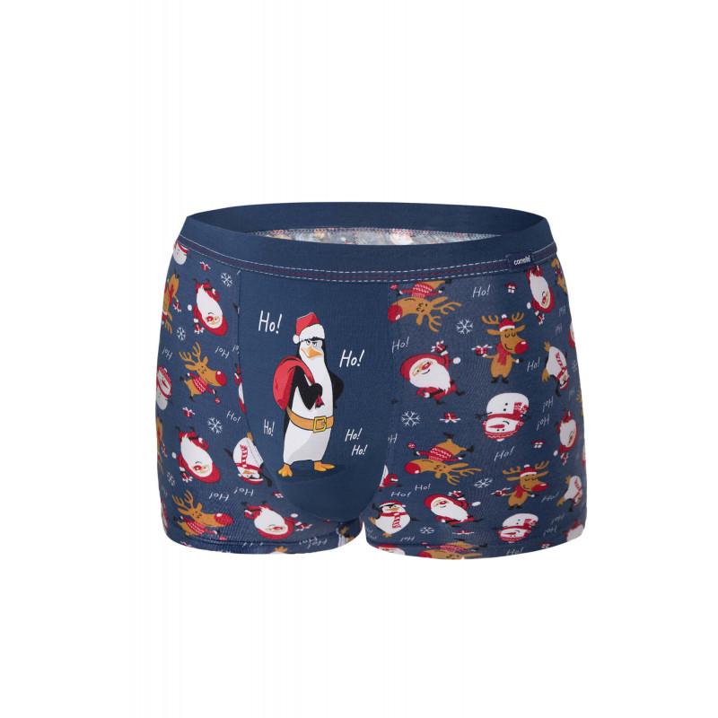 Pánske boxerky Cornette 007 - barva:COR56/tučniak, velikost:L