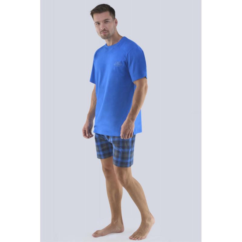 Pánske pyžamo Gina 79072P - barva:GINMxMDCM/modrá-sladké drievko, velikost:XXL