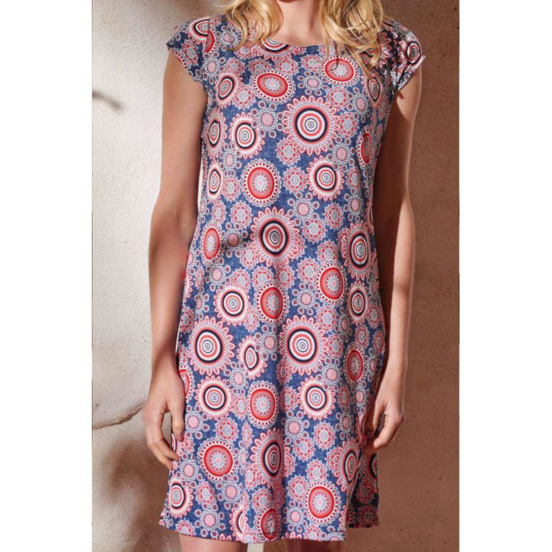 Šaty Lady Belty 20V-1054Y-76 - barva:BELCORAL/korálová, velikost:L