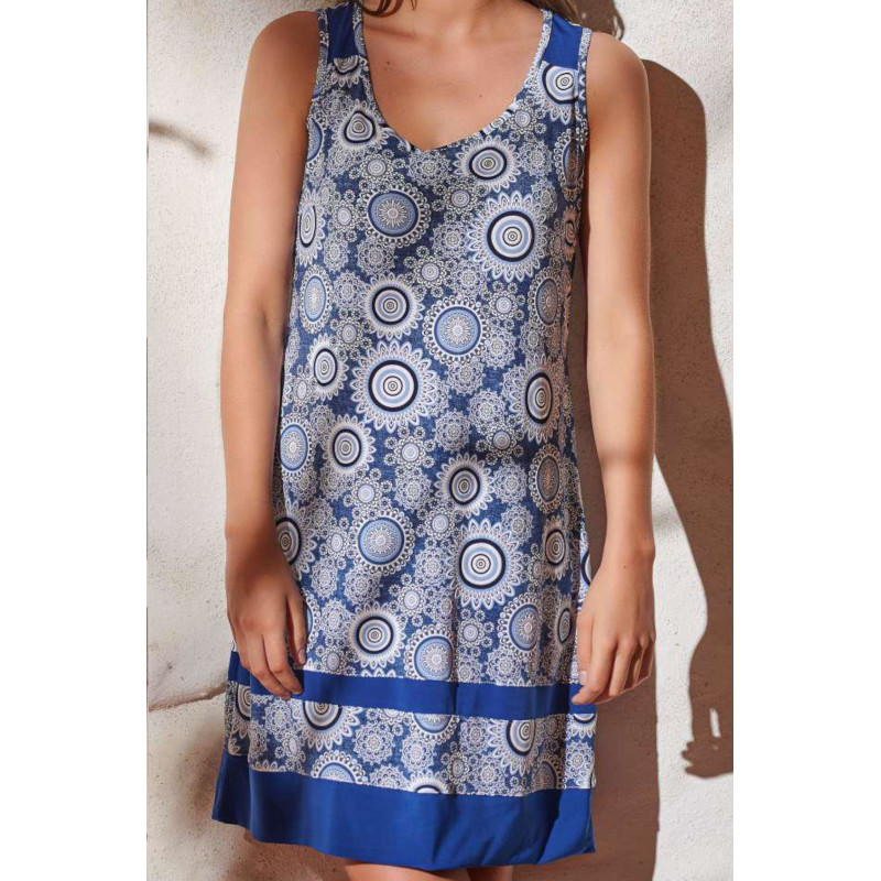 Šaty Lady Belty 20V-1056Y-76 - barva:BELAZU/modrá, velikost:S