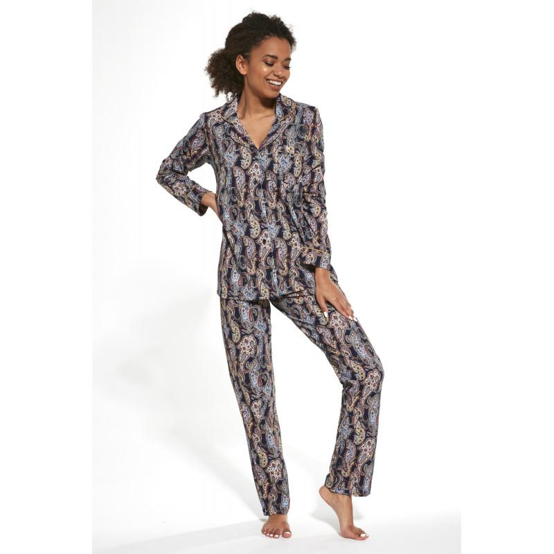 Dámske pyžamo Cornette 482 - barva:COR264/modrá s potlačou, velikost:L