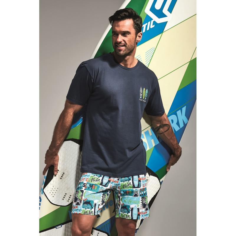 Pánske pyžamo Cornette 326 - barva:CORSURF/potláč, velikost:XL