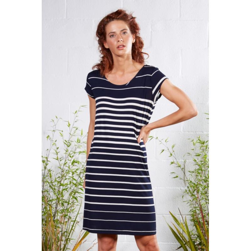 Plážové šaty Lady Belty 21V-1047Y-75 - barva:BELMAR/námornícka, velikost:L