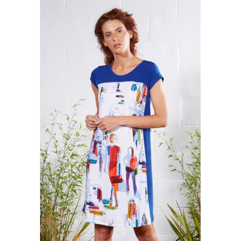 Plážové šaty Lady Belty 21V-1012V-61 - barva:BELUNICO/potisk, velikost:L
