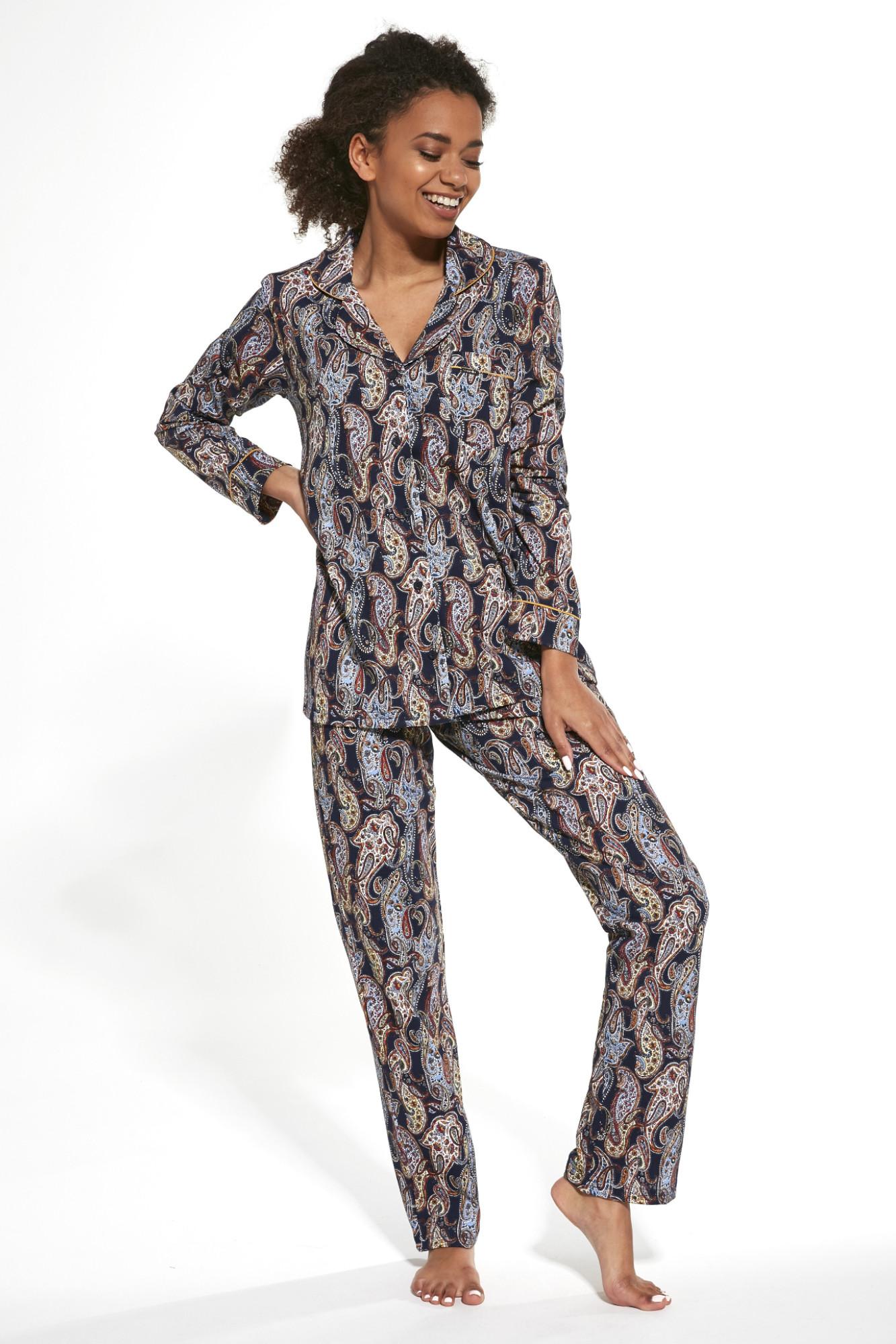 Dámske pyžamo Cornette 482 - COR264/modrá s potlačou / XL COR5E014-264.